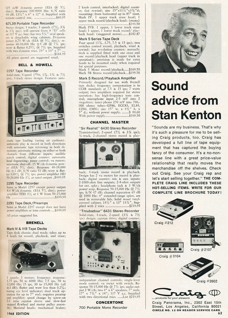 Phantom Productions Reel To Reel Tape Recorder 1908 Ad Collection