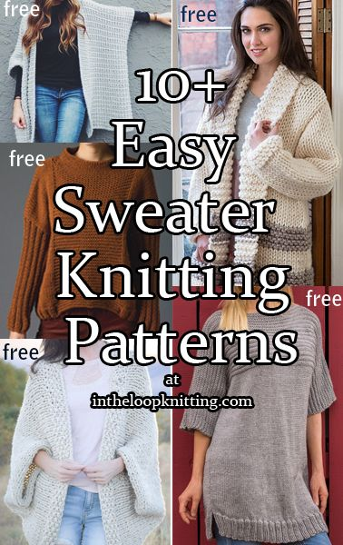 Easy Knitting Patterns for Sweaters - Pullovers and Cardigans. Most ...