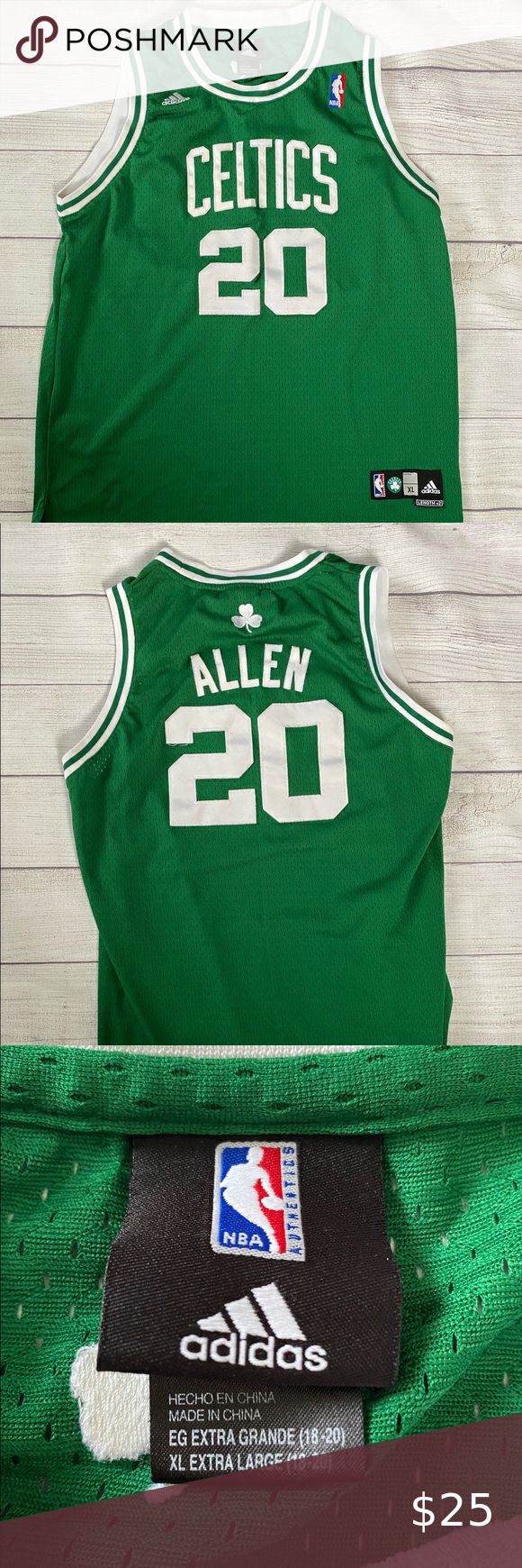 Ray Allen Boston Celtics Jersey Send You The Items In 2 Work Days All Items Fit True To Official Size All Items Boston Celtics Ray Allen Jersey Nba Shirts