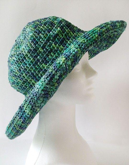 Home Raffia Sun Hat Free Crochet Pattern  bb1f0c8b53d5