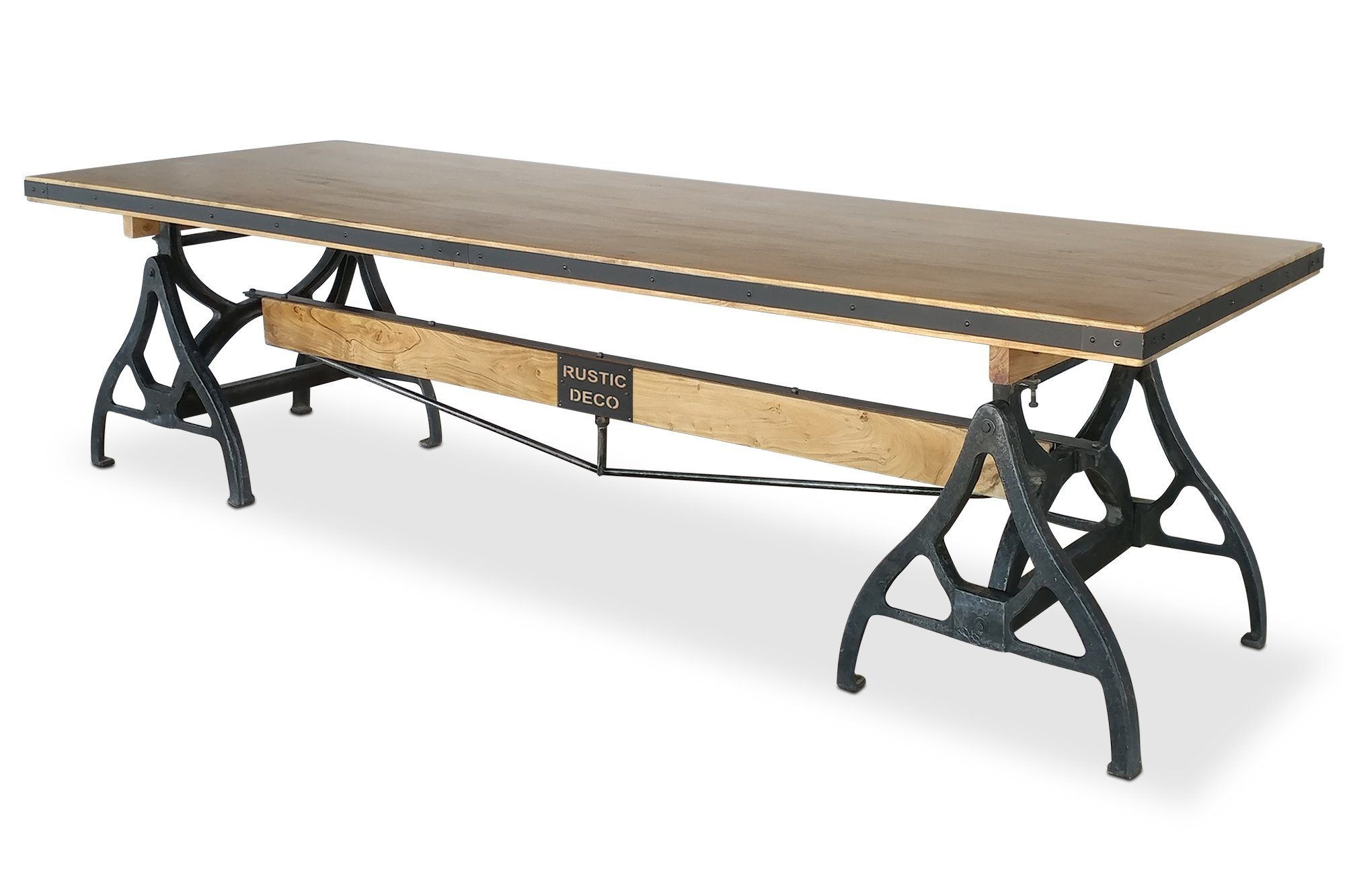 Industrial Sawhorse Conference Table Iron Base Wood Beam In 2020 Wood Beams Conference Table Beams