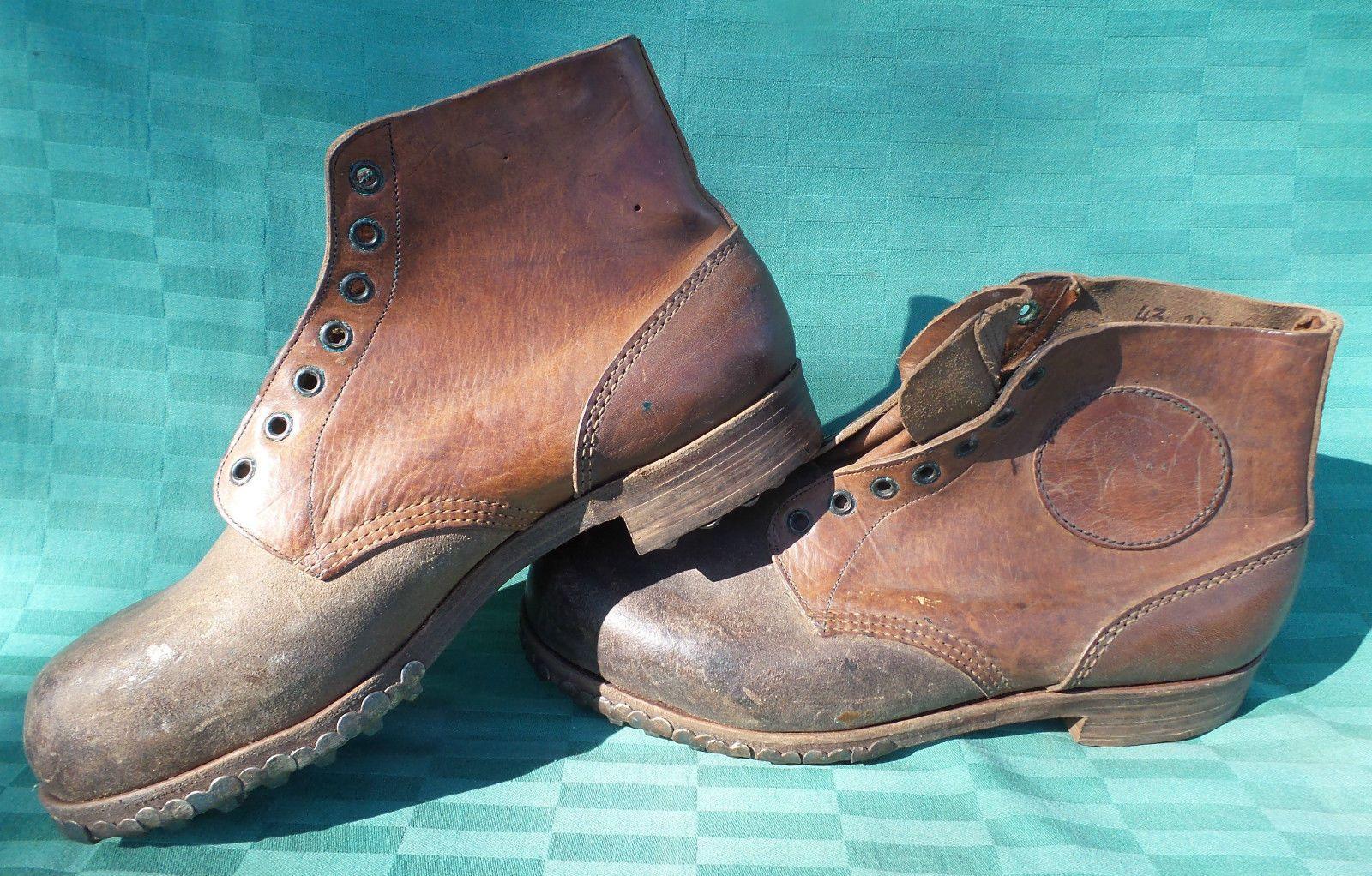 WK Militär WH Gebirgsjäger Schuhe 43 Bergschuhe genagelt gestempelt  original   eBay