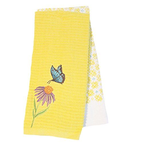 Spring Time Butterfly And Blooms 2 Pack Kitchen Towels  Y... Https