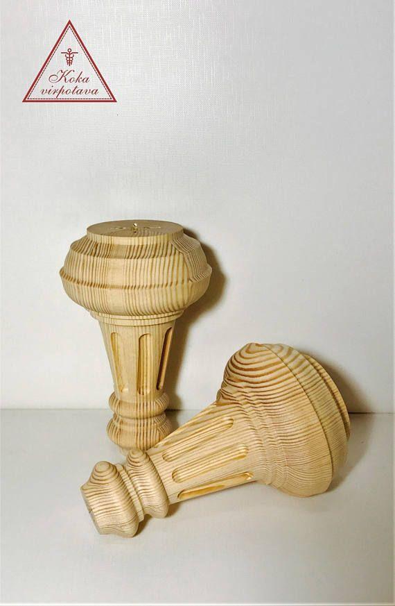 Wood Furniture Leg Unfinished Wood Feet Coffee Table Leg Sofa Leg Furniture  Feet Turned Wood Leg Cabinetry Feet Table Wood Feet D84mm H135mm