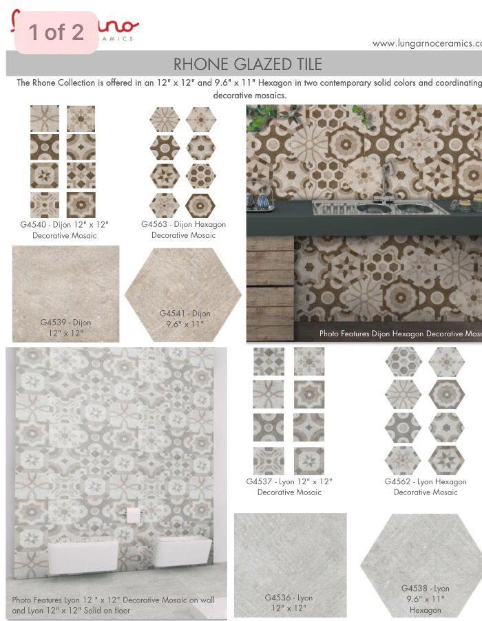 Lungarno ceramics Rhone collection Mosaic decor, Trendy