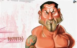 Dave Batista Wwe Caricature Hd Wallpaper 56 Wallpapers Also Available In 800x600 1024x768 Screen Resolutions Caricature Body Builder Funny Cartoons