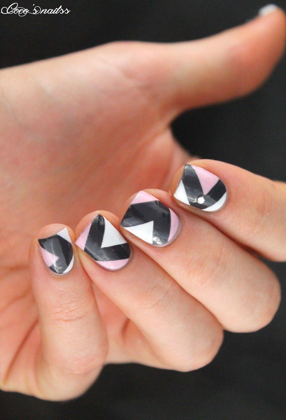 geometric nailart #cocosnailss