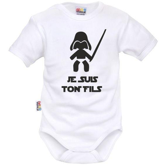 d235a5fa98fe7 Body bébé geek je suis ton FILS - Bodies bébé originaux - SiMedio
