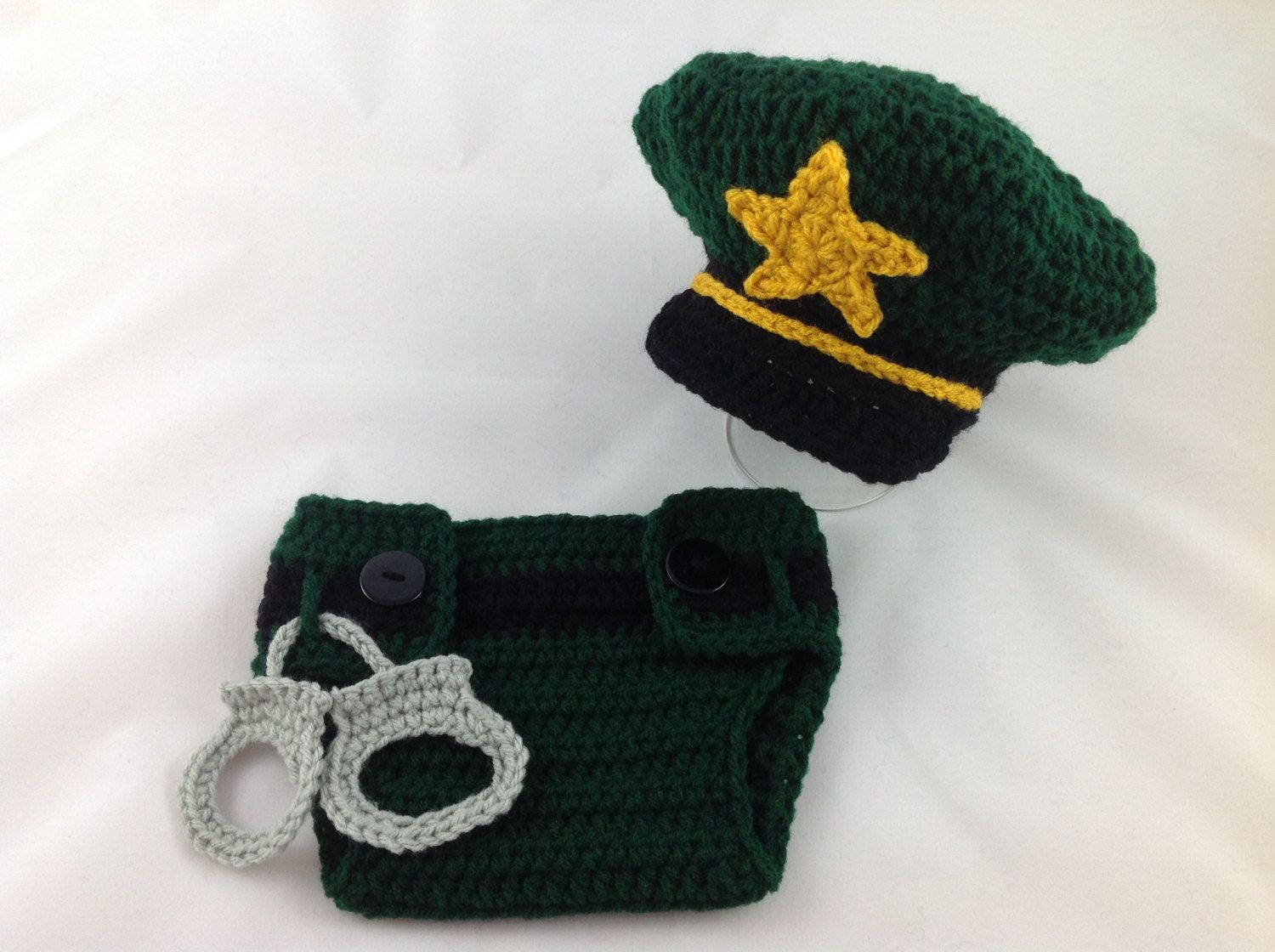 70b0e51ec52 Baby Sheriff Outfit - Crochet Sheriff Costume - Baby Police Uniform -  Newborn Police Outfit - Infant Police Outfit - Baby Police Gift by ...