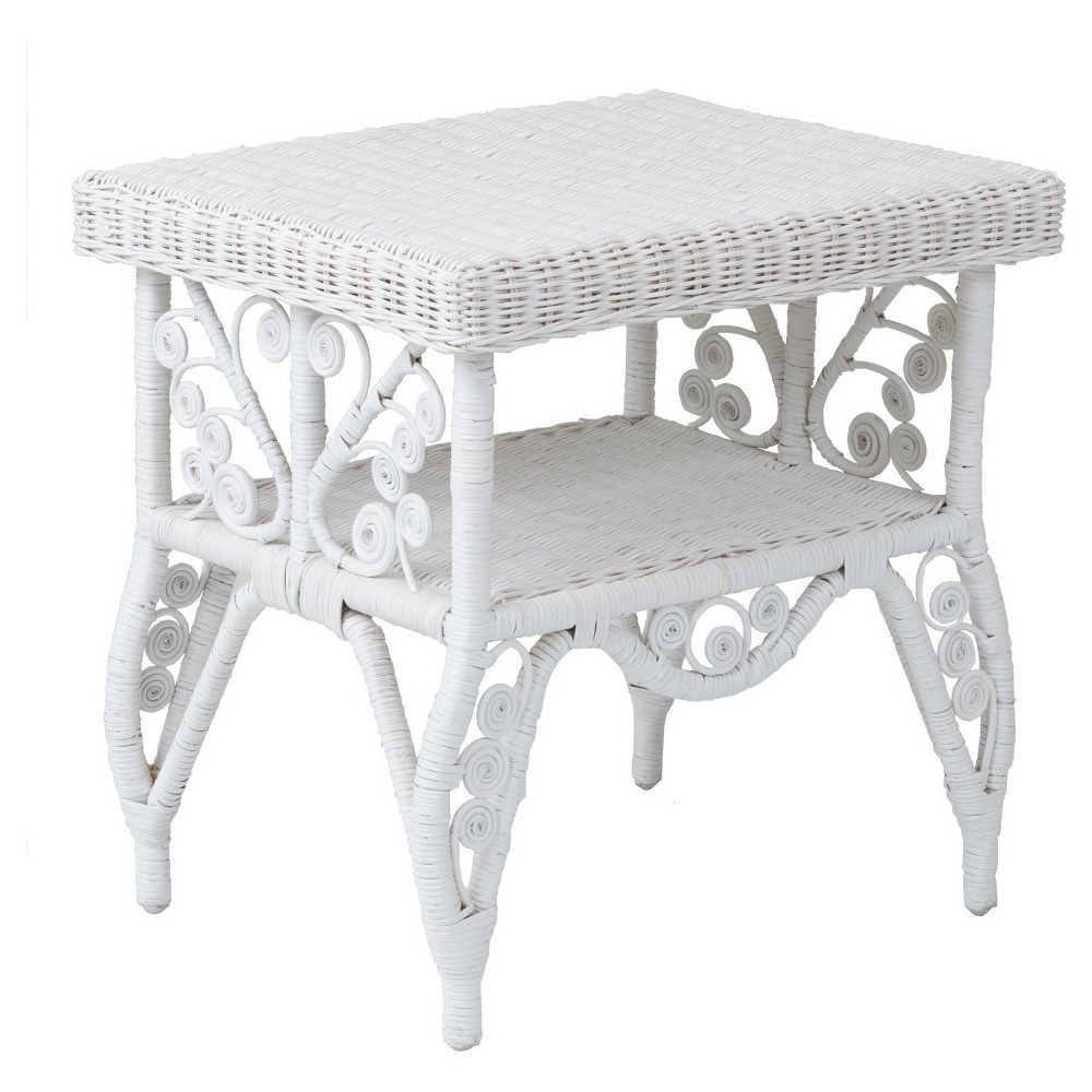 Peacock rattan side table white jeffan rattan and products