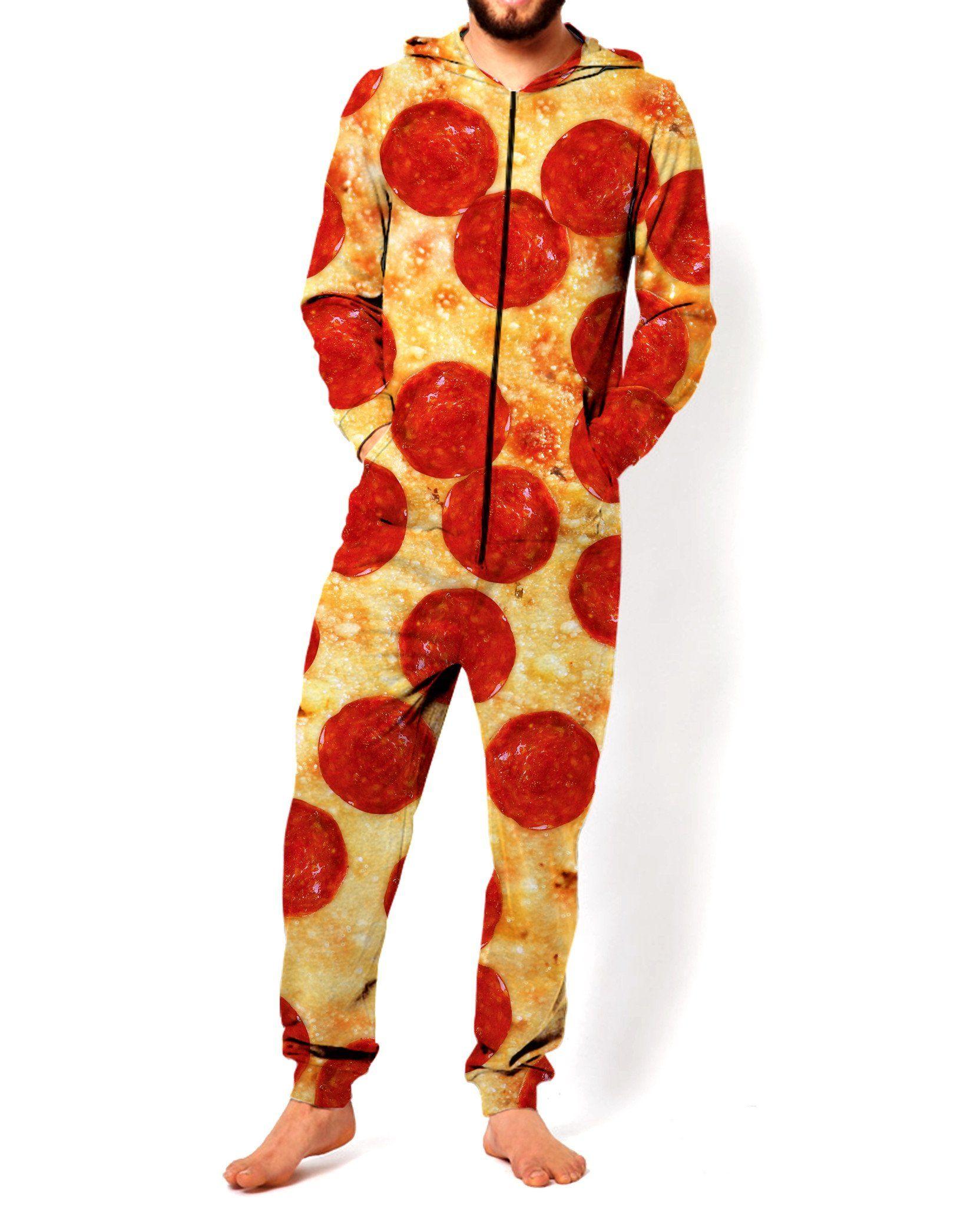 9f5de3f8e0f4 Reddit Tumblr Famous Pepperoni Pizza Adult Onesie So Funny LOL Meme ...