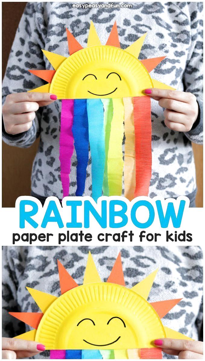 Paper Plate Rainbow Craft Idea for Kids »Ernährungsplan #Craft #Ernährungsplan #Idea #Kids #Paper #Plate #Rainbow