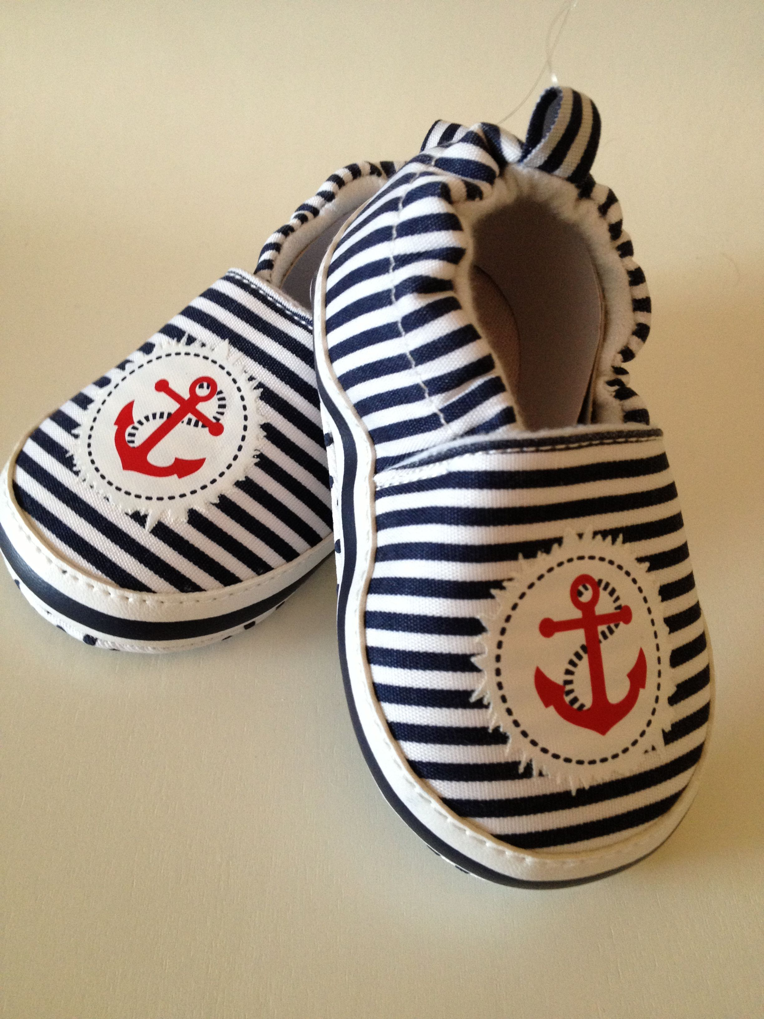 Adorable uni blue nautical baby shoes Perfect for any occasion