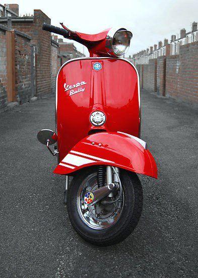 red vespa vespa vespa motos motocicletas