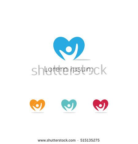 Healthcare Medical Symbol With Heart Shapeheart Care Logo Heart