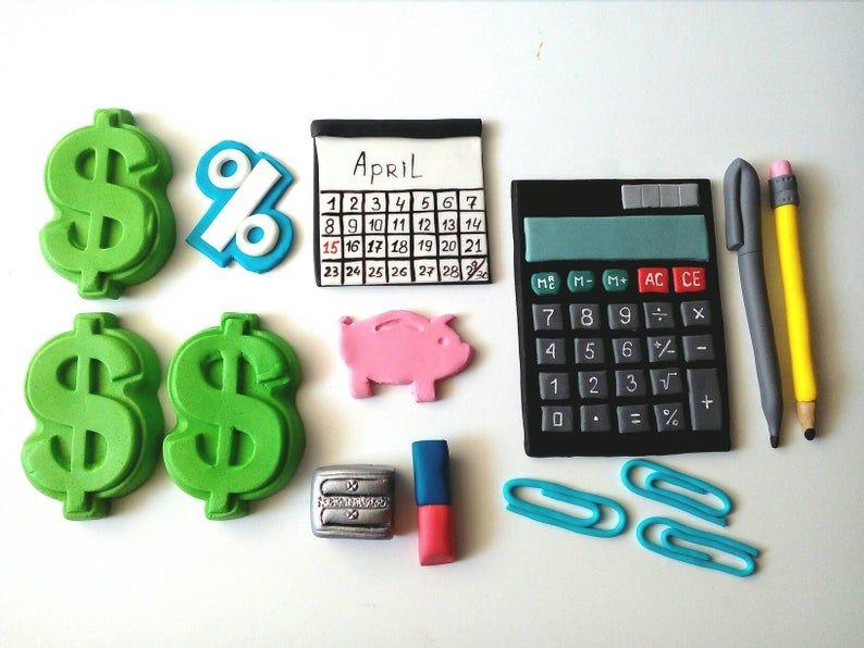 Accounting cpa fondant cake toppers14pcs fondant cake