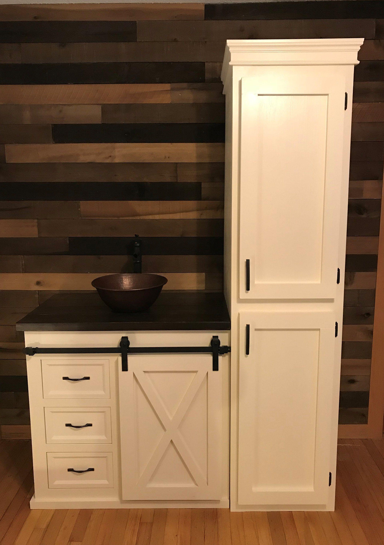 Barn Door Bathroom Vanity Free Shipping Etsy Bathroom Vanity Bathrooms Remodel Single Handle Bathroom Faucet