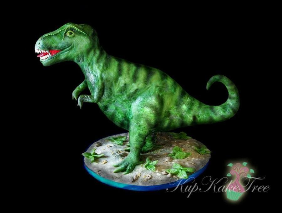 3D T Rex Cake on Cake Central Dinosaur party Pinterest Cake