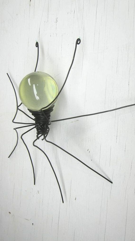 Clear Sun Catcher Window Spider Repurposed Hanging Art | garden ...