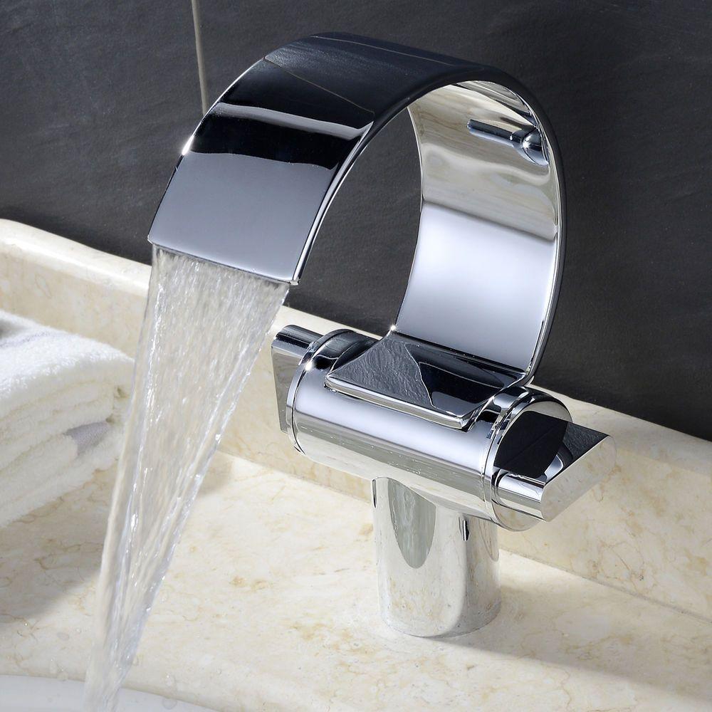 Badewannen armaturen wasserfall  Design Wasserfall Wasserhahn Armatur Waschtischarmatur Waschbecken ...