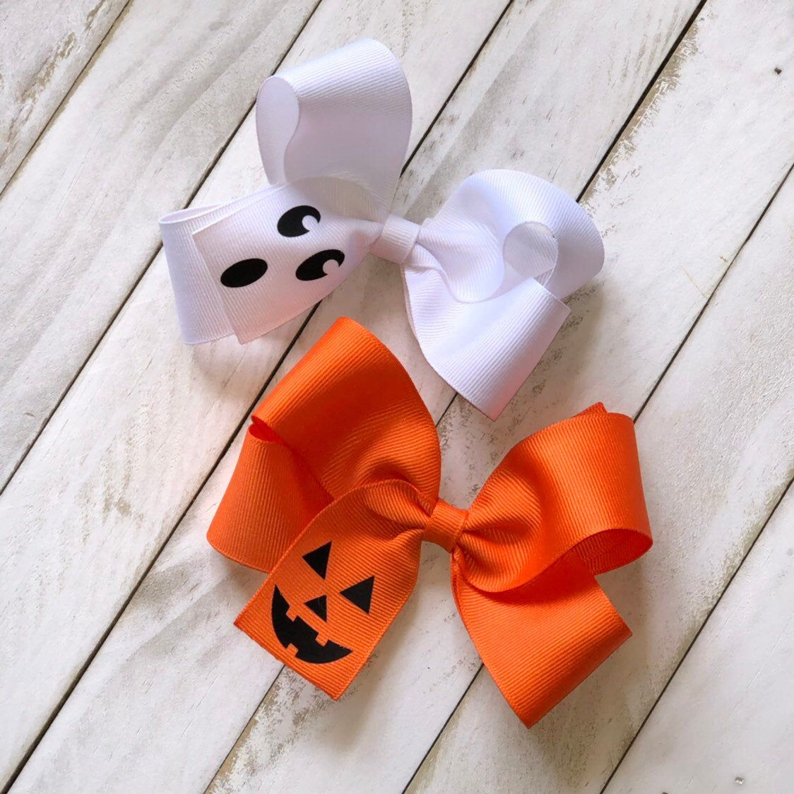Monogram Pumpkin Felt Clippie Hair Bow