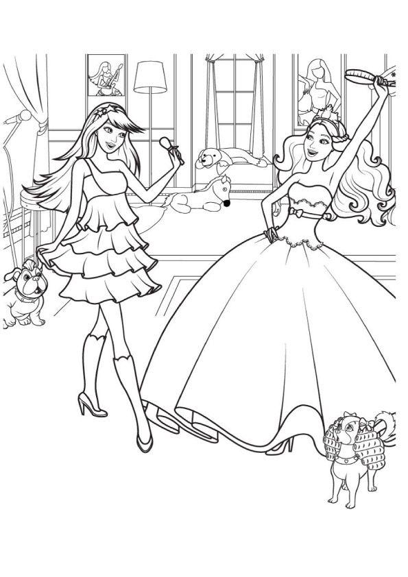 Print Coloring Image Momjunction Barbie Coloring Pages Princess Coloring Pages Barbie Coloring