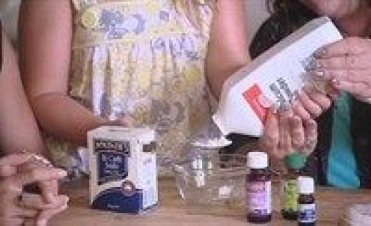 a shoe fru to keep your shoes looking & smelling good (from LUSH HOUSE) ... 2 T Talcum Powder (keeps the shoes dry - absorbs the moisture) 2 T baking soda 2 drops each of Oil of Cloves (kills mold - no musty smell) Tea Tree Oil (kills tinea/athlete's foot fungus within 24 hours) Lavender Oil (fragrance muscle relaxer for feet).  Stir it th...