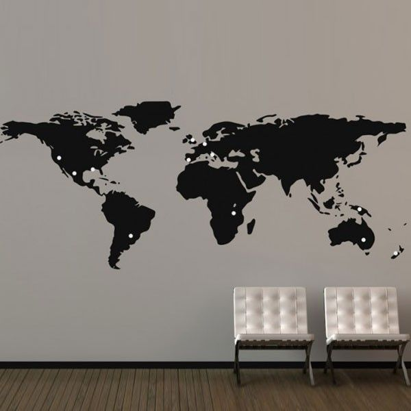 Large world map wall sticker giant map wall decor world map large world map wall sticker giant map wall decor gumiabroncs Images