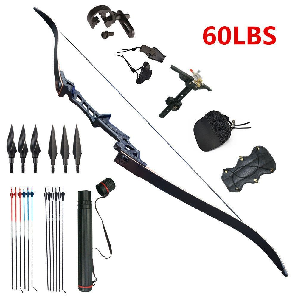 Archery Kits Recurve Bows 60lbs Takedown Bow Hunting Set