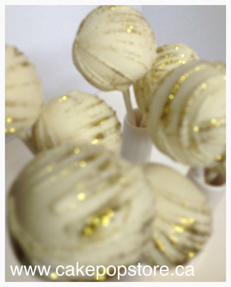 gold cake pops | White & Gold cake pops
