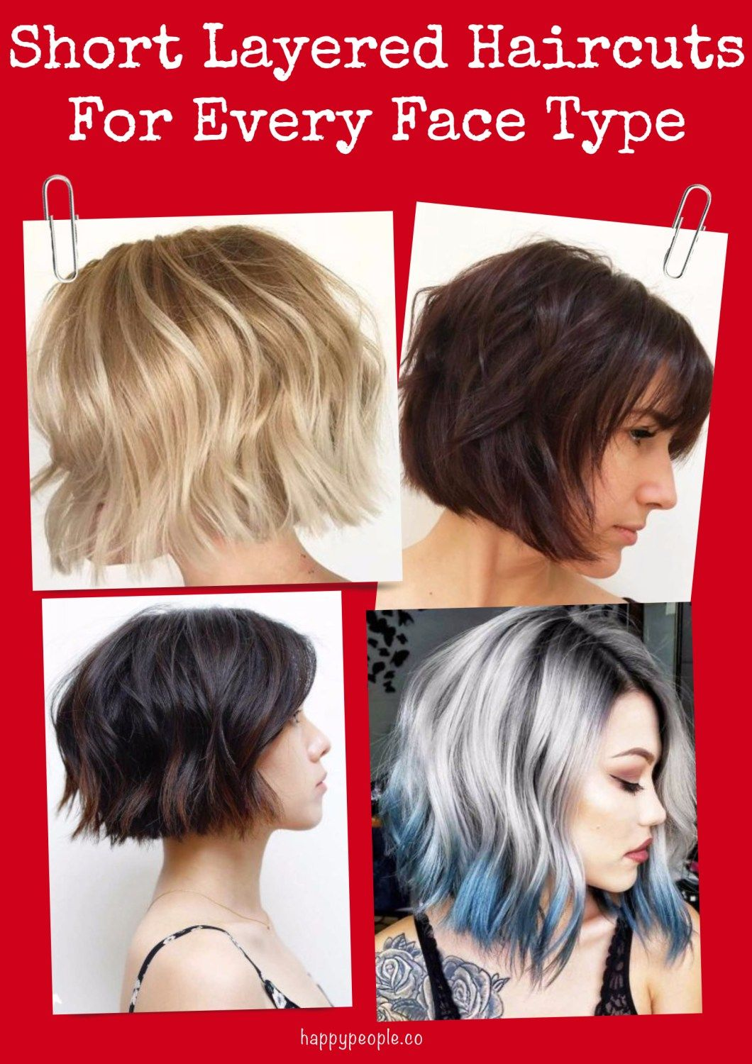 21 Cute Short Layered Haircuts For Every Face Type #shortlayeredhaircuts