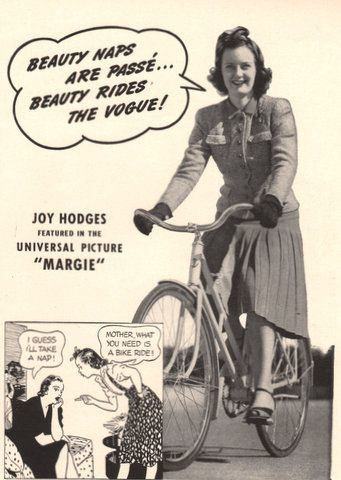 1940 Biking bicycling bike print ad It's Fun to Ride a by Vividiom, $8.00