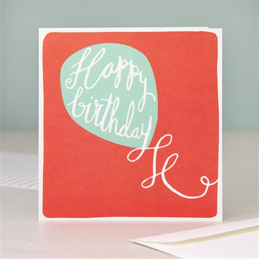 Modern Calligraphy Happy Birthday Card Balloon Birthday Cards For Her Birthday Card Design Birthday Cards