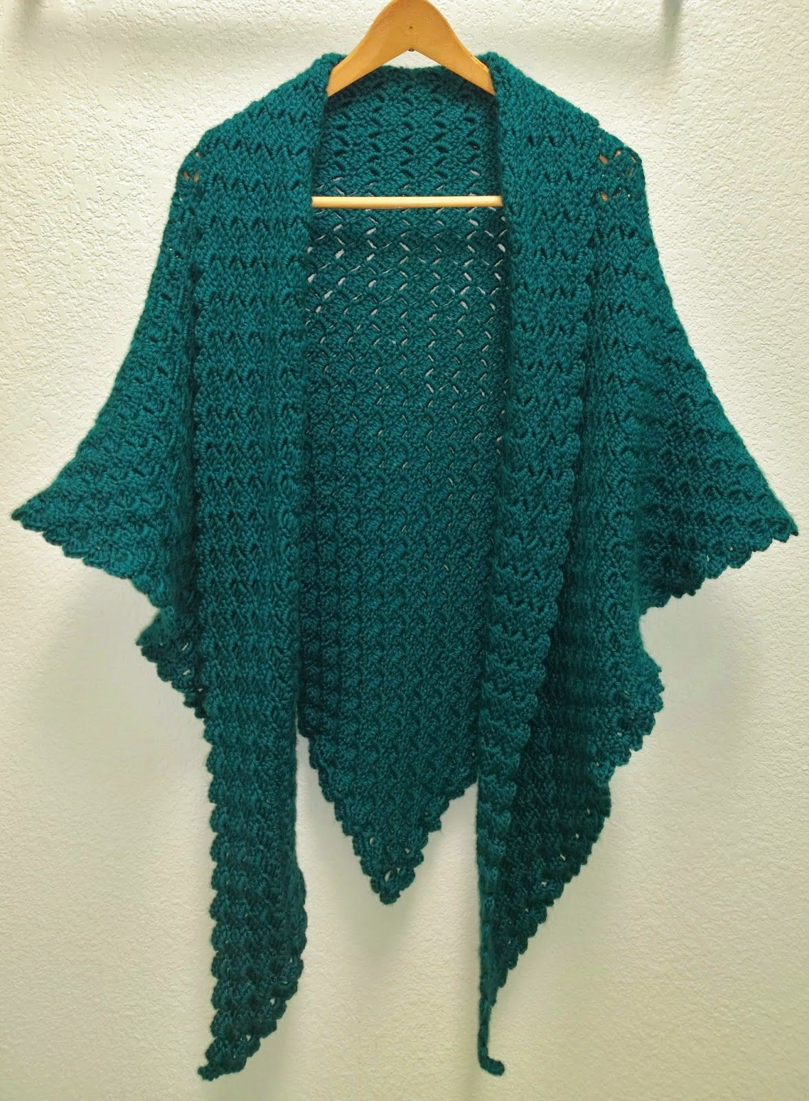 I Crocheted This Shawl For A Friend Of Mine Using The Corner To
