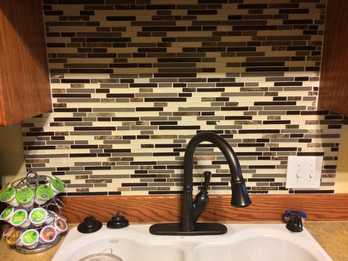 New backsplash lowes american olean mosaic tile in chateau new backsplash lowes american olean mosaic tile in chateau emperador dailygadgetfo Image collections