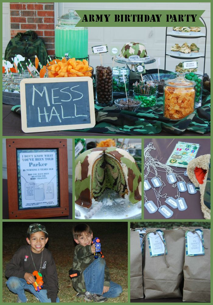 Army Birthday Party via SIMONEmadeit.com