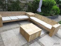Afbeeldingsresultaat voor loungebank tuin steigerhout tuin