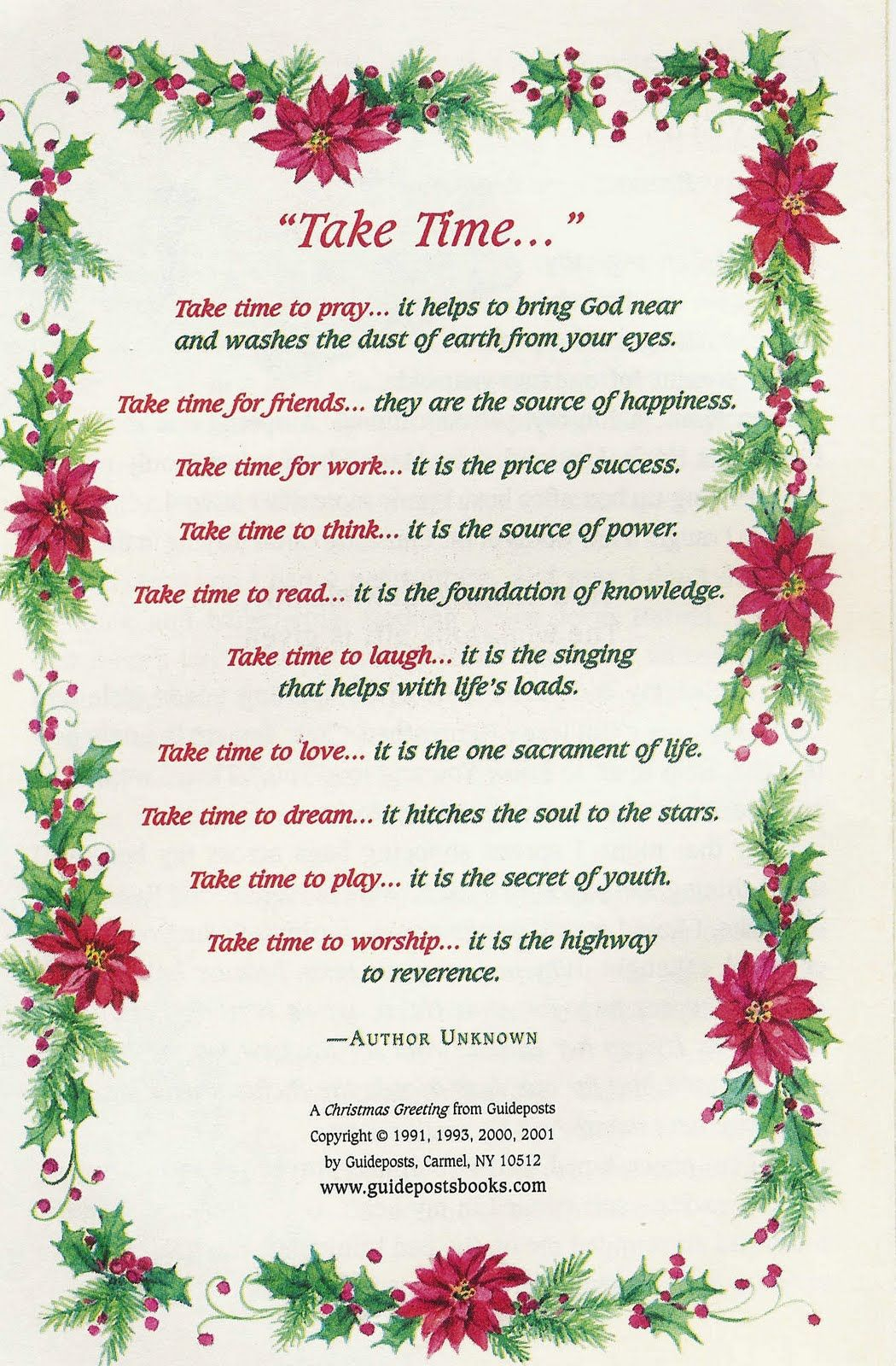 Christmas poems for church programs - Christmas Poems Critter Sister Journal Take Time For What S Important