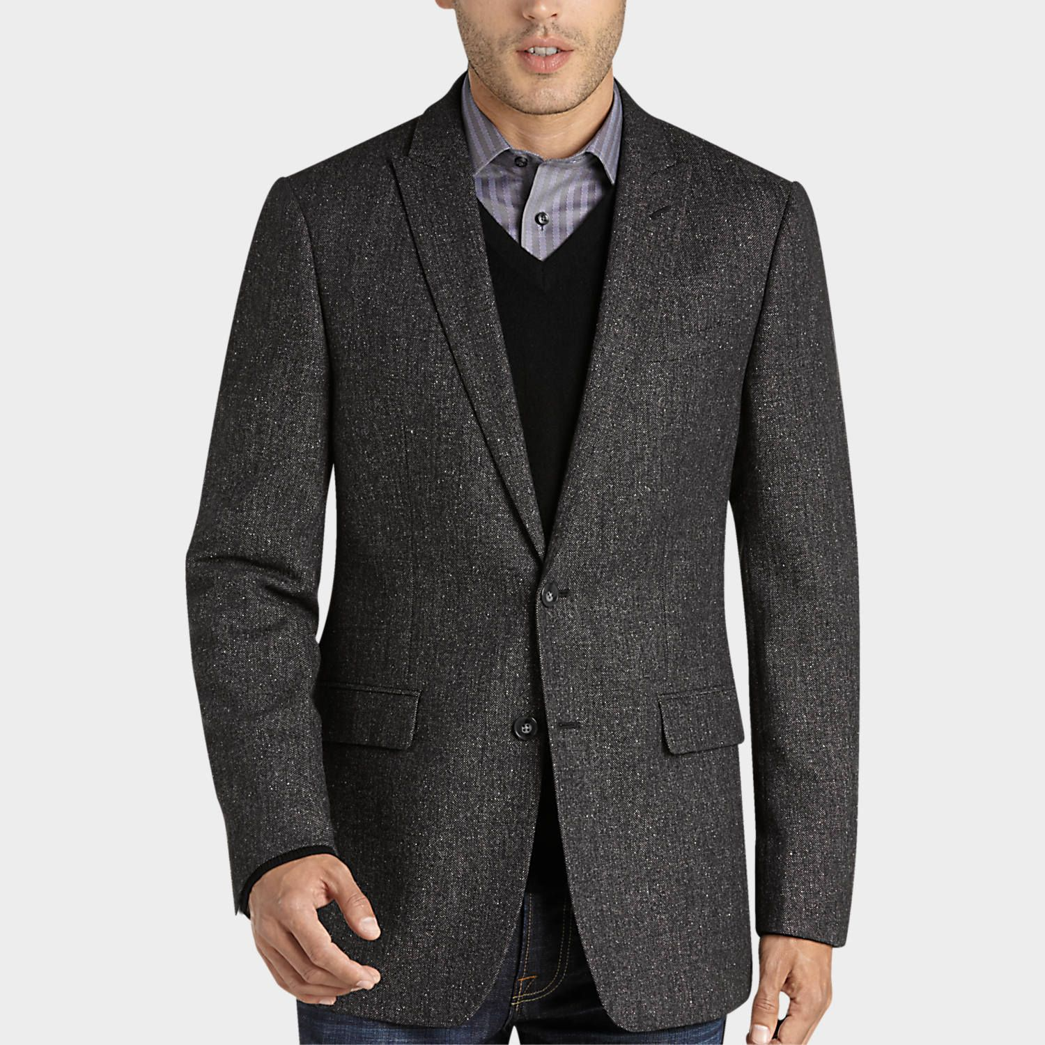 Buy a Calvin Klein Black Tweed Extreme Slim Fit Sport Coat and ...