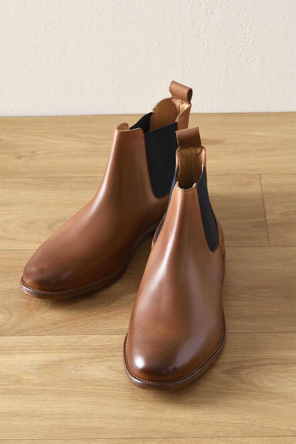 Chelsea Boots Cuir Homme Chataigne Patine Fisherton Chaussures Homme Boots Homme Cuir Chaussure Homme Luxe