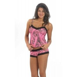 cf056c1219 Naked North Pink Camo Camisole and Panty Set