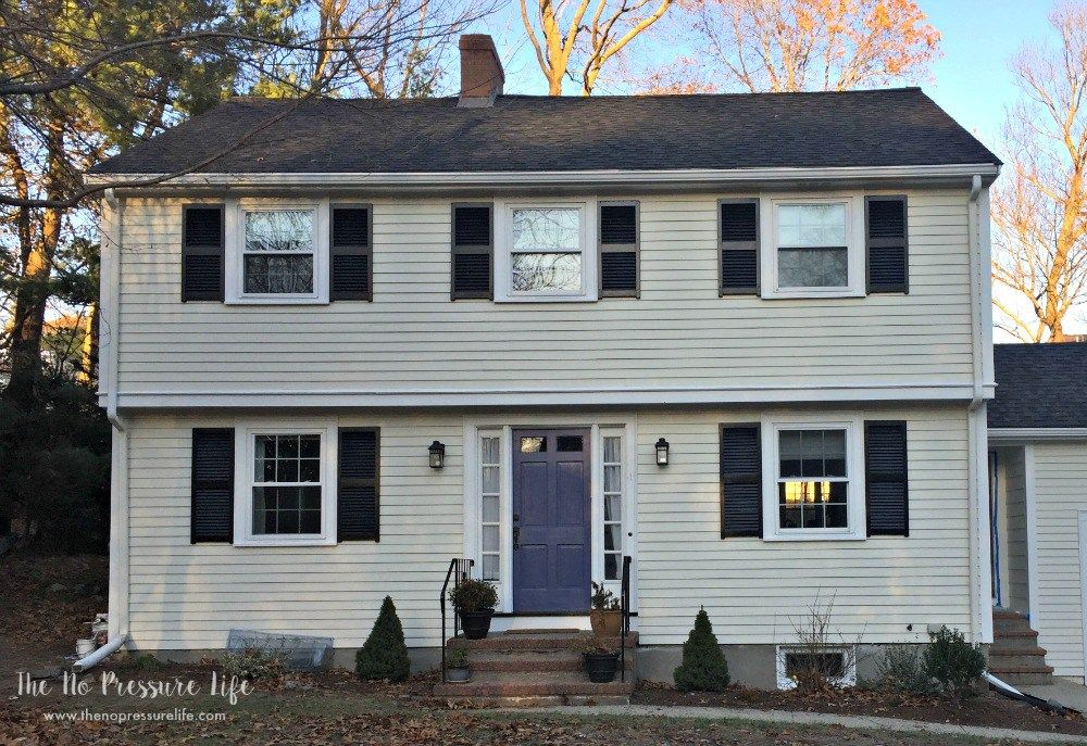Good Bye 1960 S Special Tour This Total Home Renovation Colonial Exterior Best Exterior House Paint Garage Door Styles