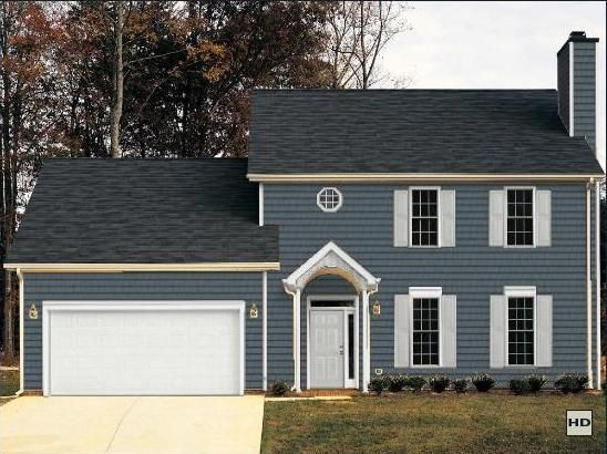 Best Pretty Grey Blue Remember The Roof Shingles Are Brown 400 x 300