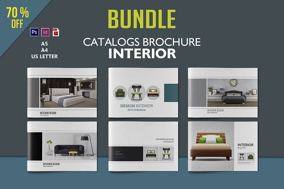 Interior Design Brochure Bundle by tujuhbenua on @creativemarket - interior design brochure template