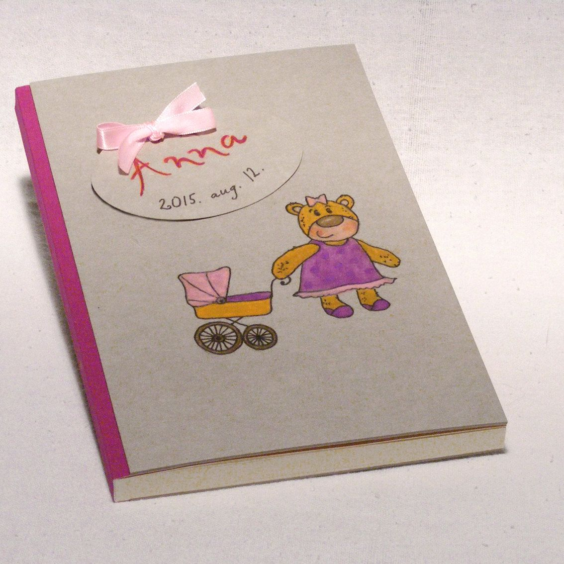 Baby girl journal memory album personalized baby shower gift baby girl journal memory album personalized baby shower gift blank book for new negle Images