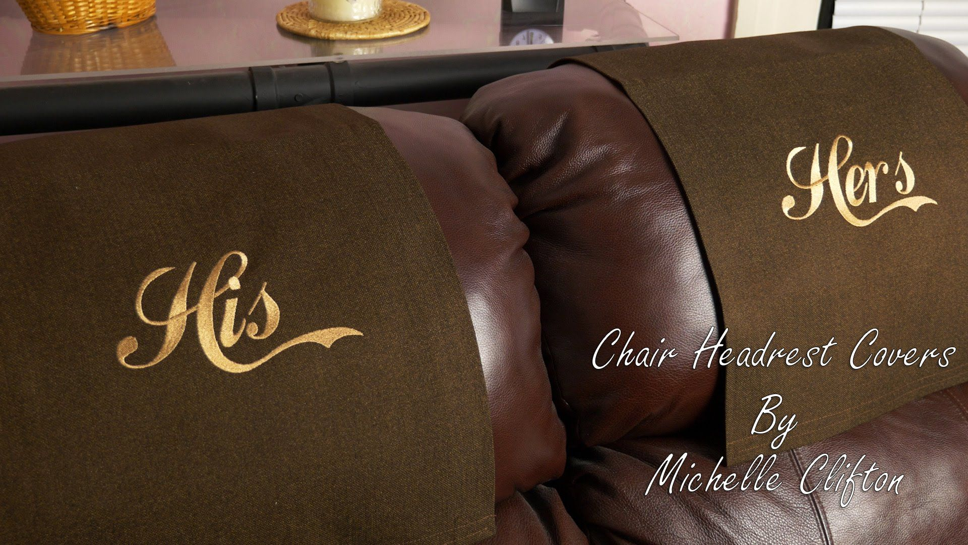 Headrest Covers By Stitch N Art Headrest Chair Covers Leather Sofa