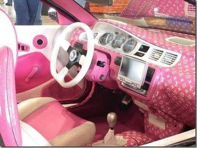 Louis Vuitton Logo Pink Luxury Interior