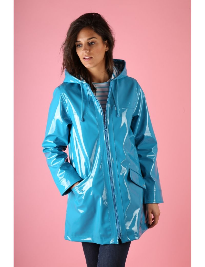 En Pinterest 2018 Glossy Breton Raincoat Blue XwqqaEt