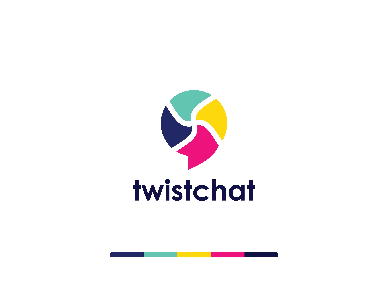 Twist Chat Logo Design Here I Am A Presentation Unique Logo