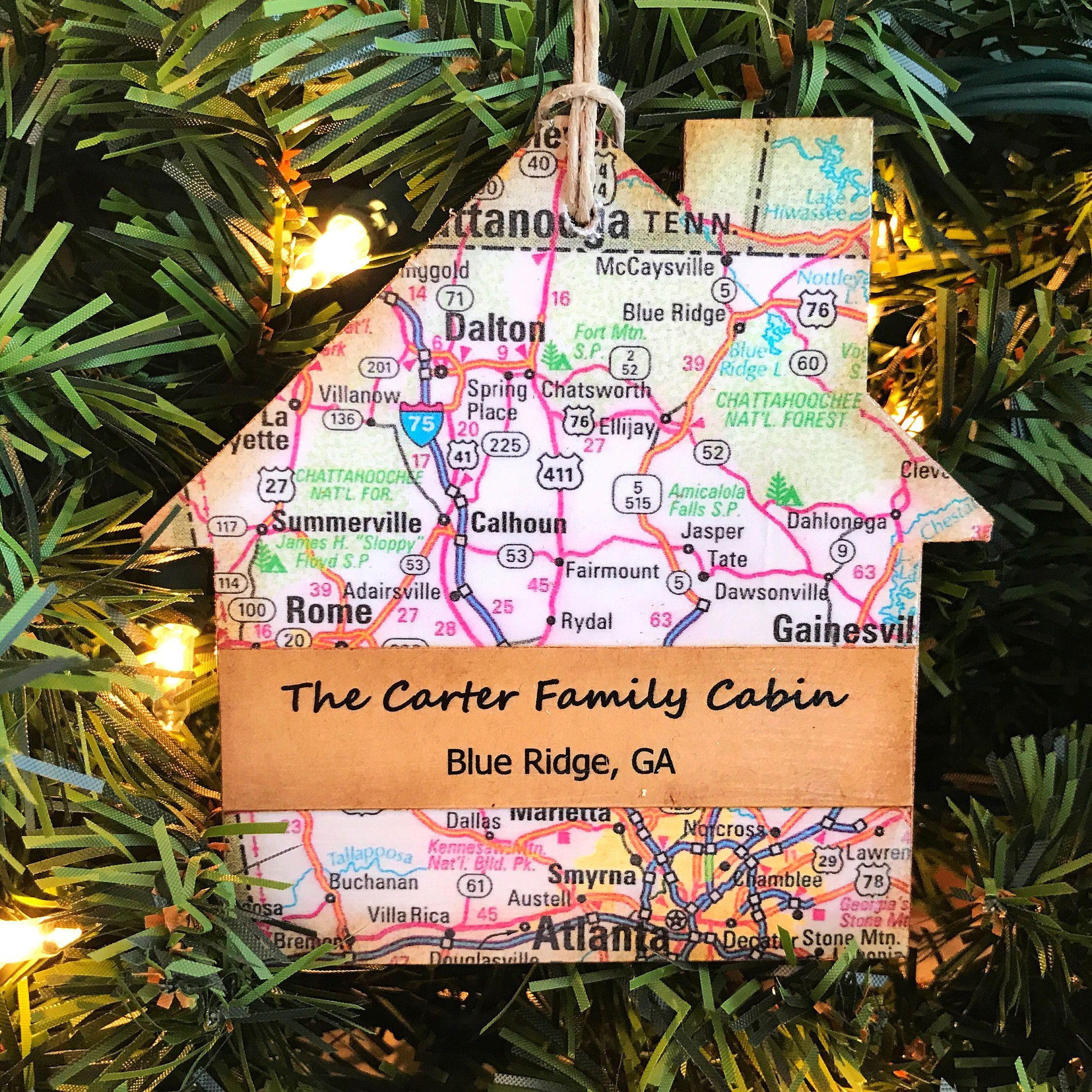 personalized cabin ornament cabin gifts unique cabin decor unique cabin sign housewarming